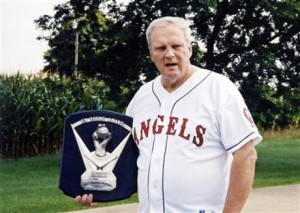 Dean Chance holds the 1964 Cy Young Award he won for the Los Angeles Angels in a 2004 photo taken on his family farm in New Pittsburg, Ohio. Chance is best known for being perhaps the greatest high school pitcher ever and for winning the 1964 Cy Young Award. He's also been a carny showman. (AP Photo/Wooster Daily Record, Aaron Dorksen)